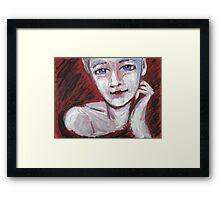 Blue Eyes - Portrait Of A Woman Framed Print
