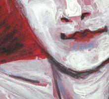 Blue Eyes - Portrait Of A Woman Sticker