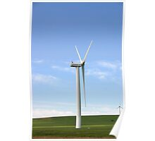 Rolling Hills and Windmills Poster