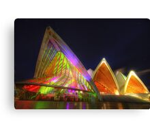 Colours of the Opera House Canvas Print