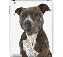Pit Bull Terrier Oil Painting Style White Background iPad Case/Skin