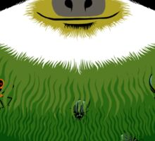 Sloth buggy - green Sticker