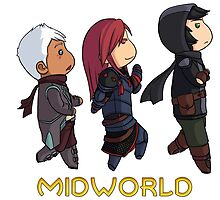 Midworld cute chibi trio by Syarma