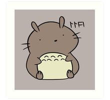 Totoro Hamster Art Print