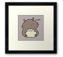 Totoro Hamster Framed Print