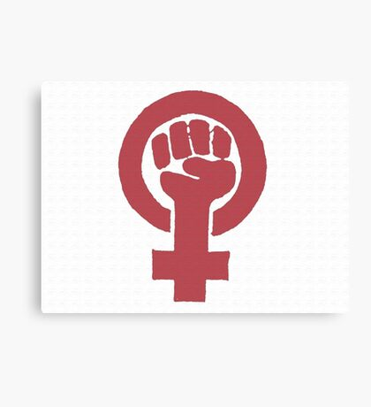Feminist - Red Canvas Print