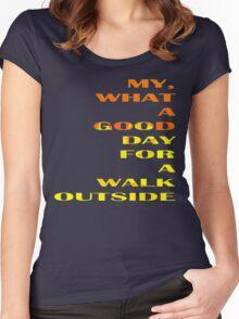 Walk Outside II Women's Fitted Scoop T-Shirt