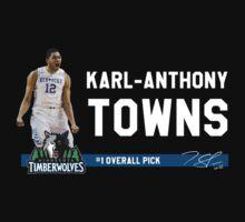 Karl-Anthony Towns -- Minnesota Timberwolves 1st NBA Draft Pick 2015 by TheTShirtMan