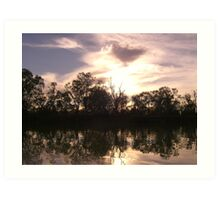 South Australian sunset Art Print