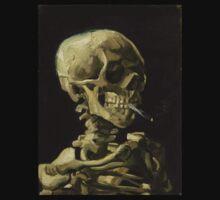 Vincent Van Gogh smoking skeleton T-Shirt