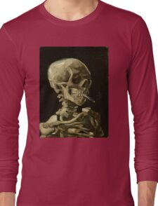 Vincent Van Gogh smoking skeleton Long Sleeve T-Shirt