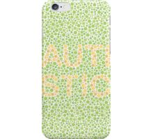 Autism can be hard to see - Orange on Green iPhone Case/Skin