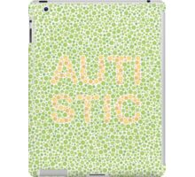 Autism can be hard to see - Orange on Green iPad Case/Skin