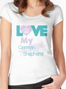 Love my German Shepherd Women's Fitted Scoop T-Shirt