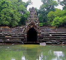 Waters of Neak Pean - Angkor, Cambodia. by Tiffany Lenoir