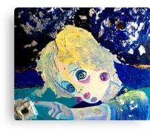 "SLEEPING BLUE- TRILOGY ""BLUE"" Canvas Print"