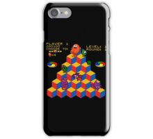 Q*Bert - Video Game, Gamer, Qbert, Orange, Black, Nerd, Geek, Geekery, Nerdy iPhone Case/Skin
