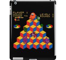 Q*Bert - Video Game, Gamer, Qbert, Orange, Black, Nerd, Geek, Geekery, Nerdy iPad Case/Skin