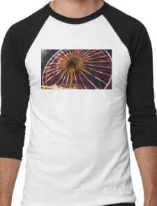 Fun Wheel Glow Men's Baseball ¾ T-Shirt