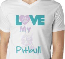 Love my Pitbull Mens V-Neck T-Shirt