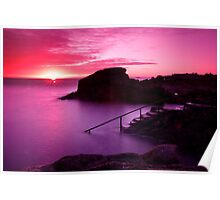Sunrise at the Forty Foot, Co. Dublin Poster