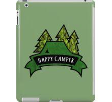 Camping makes me happy. iPad Case/Skin