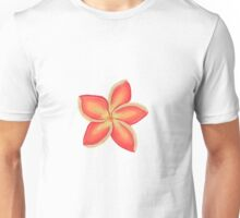 Orange Plumeria Flower Unisex T-Shirt