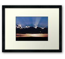 Border Sunset  Framed Print