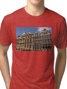 Postcard from Brussels - Grand Place Facades Tri-blend T-Shirt