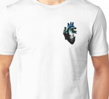 Fraysexual/Frayromantic Pride Heart (with black detail) Unisex T-Shirt