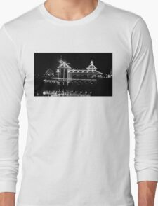 The Grotto - Black & White at Night Long Sleeve T-Shirt