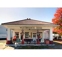 Westbrook's Filling Station Photographic Print