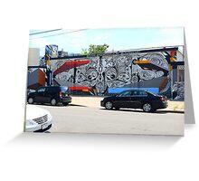 Denver Street Art Mural Greeting Card