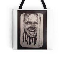 Jack Nicholson The Shining Here's Johnny Tote Bag