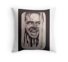 Jack Nicholson The Shining Here's Johnny Throw Pillow