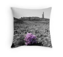Mine and flower Throw Pillow