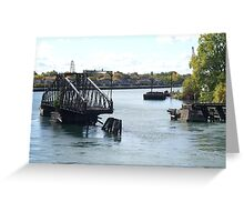 Swing Bridge Greeting Card