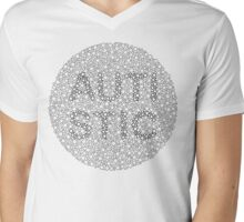 Autism can be hard to see - Outline Mens V-Neck T-Shirt