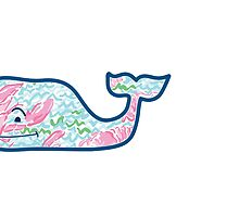 Vineyard Vines Whale w/ Lilly Pulitzer lobster pattern Lobstah Roll  by Seaweed4