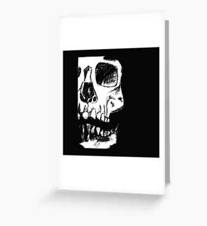 Black Skull Greeting Card