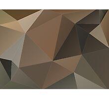 Brown Geometric Photographic Print