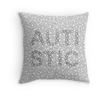 Autism can be hard to see - Outline Throw Pillow
