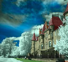 Infrared photo of Callander house front. by James Kerr