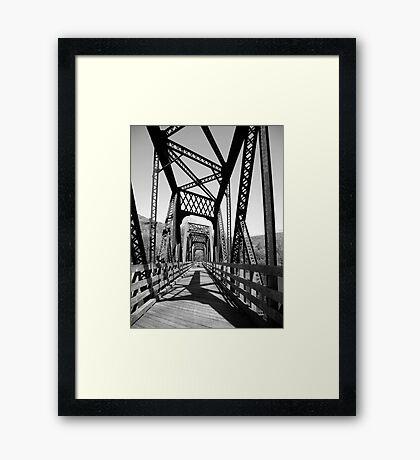 B&W Bridge Framed Print