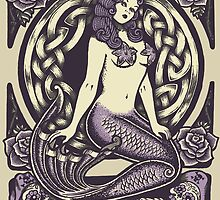 Mermaid and Skulls by Roberto Jaras Lira