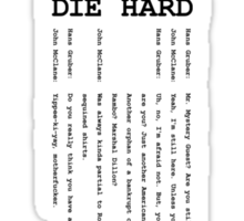 Die Hard Sticker