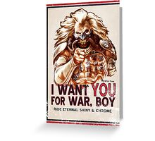 I Want YOU for WAR, BOY (dark colors) Greeting Card