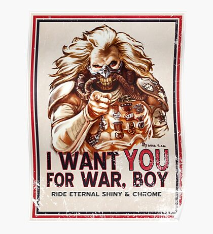 I Want YOU for WAR, BOY (dark colors) Poster