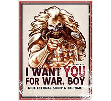 I Want YOU for WAR, BOY (dark colors) Photographic Print