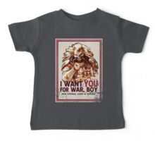 I Want YOU for WAR, BOY (dark colors) Baby Tee